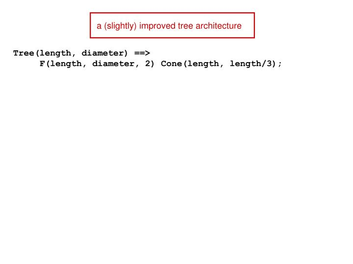 a (slightly) improved tree architecture