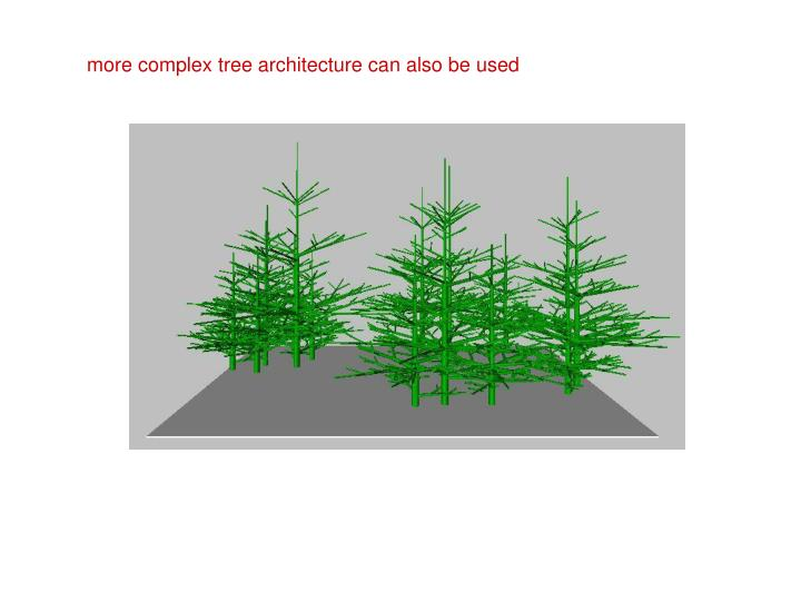 more complex tree architecture can also be used