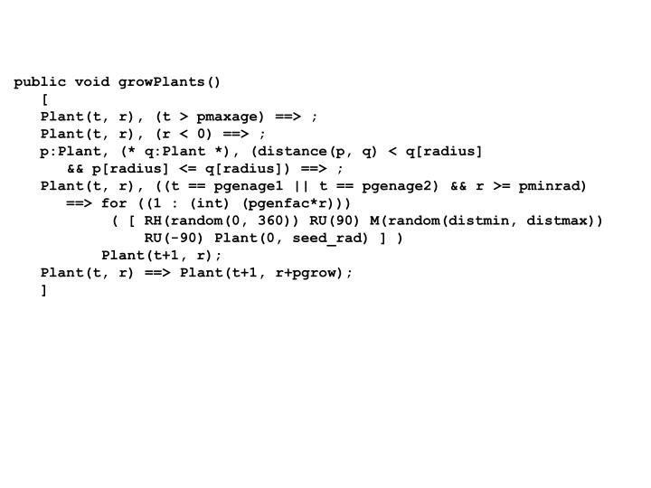 public void growPlants()
