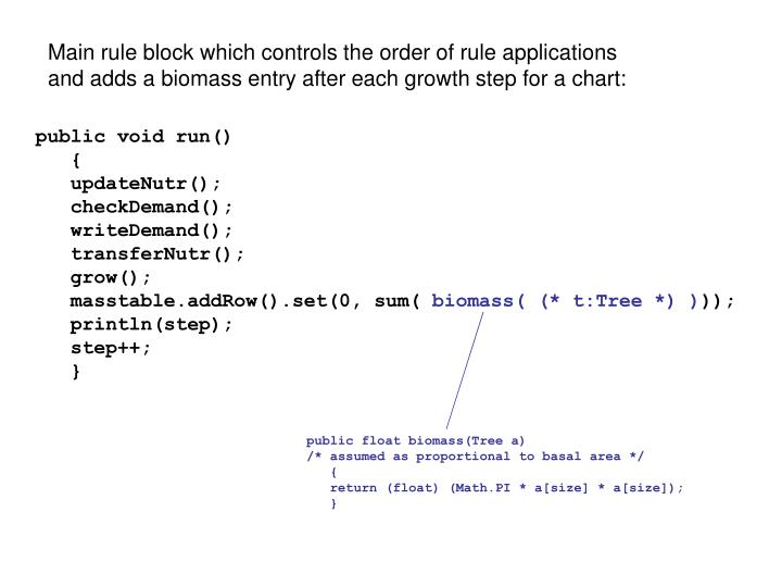 Main rule block which controls the order of rule applications