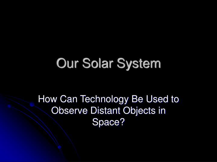 our solar system n.
