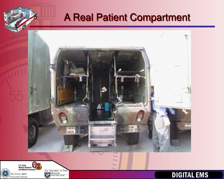 A Real Patient Compartment