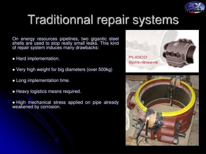Traditionnal repair systems