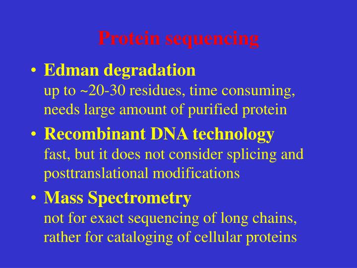 Protein sequencing