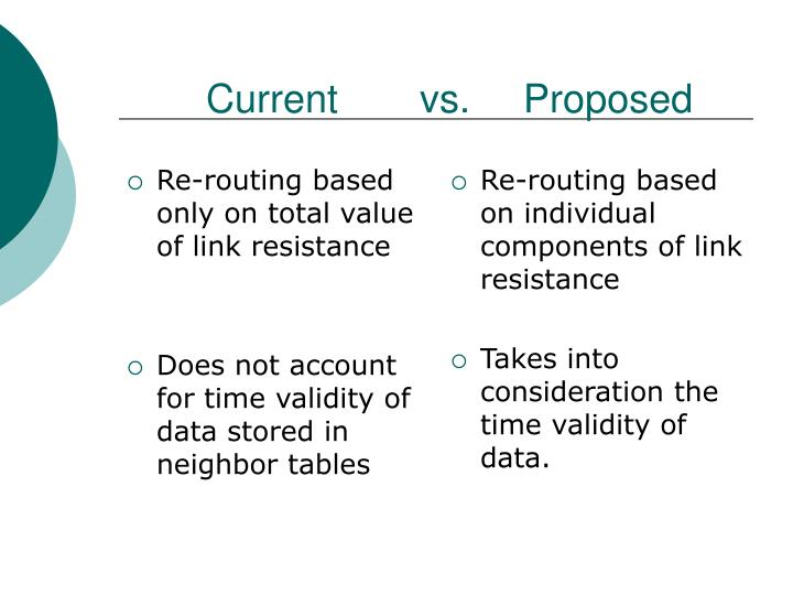 Re-routing based only on total value of link resistance