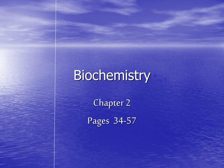biochemistry n.