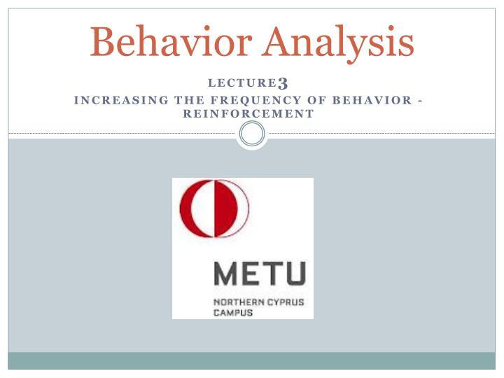 behavior analysis n.