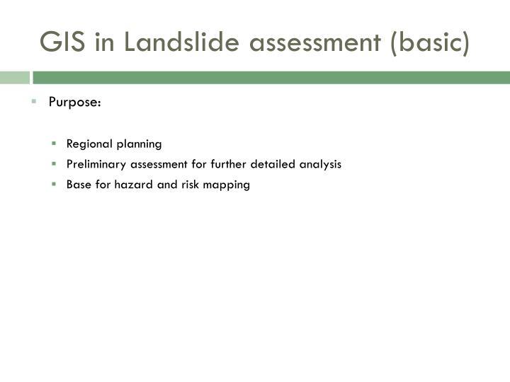 landslide hazard assessment using gis Mahadi, mohd onny (2007) development of landslide hazard assessment using geographical information system (gis) and remote sensing application universiti teknologi petronas.