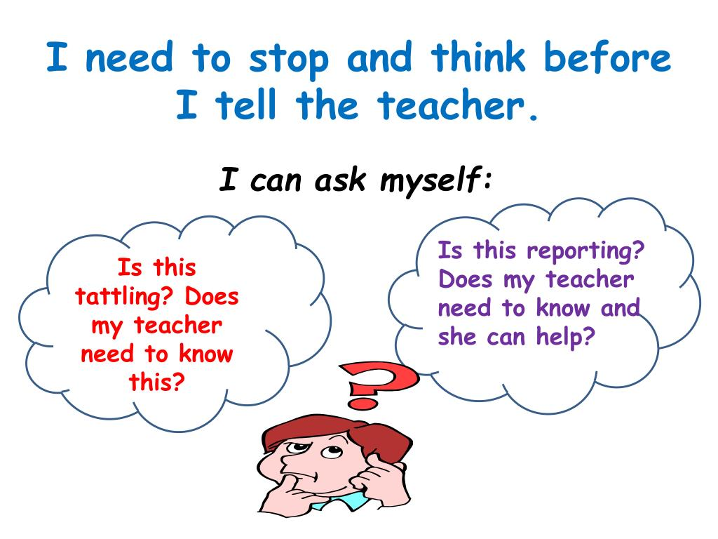 PPT - Hmmm, Do I Need to Tell the Teacher? PowerPoint
