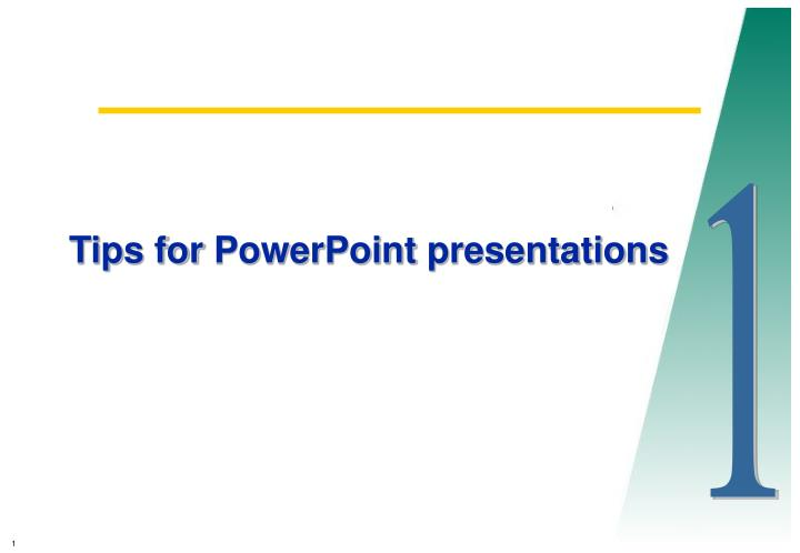 tips for powerpoint presentations n.