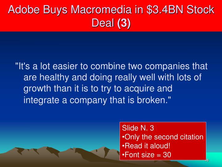 Adobe Buys Macromedia in $3.4BN Stock Deal