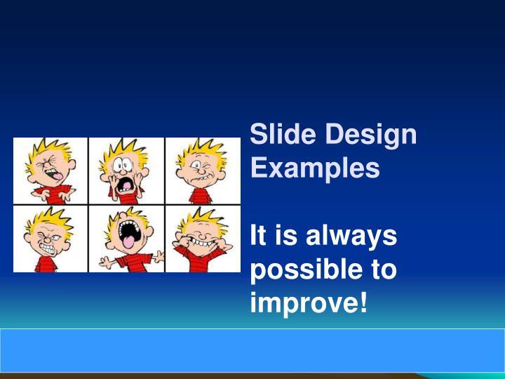 Slide Design Examples