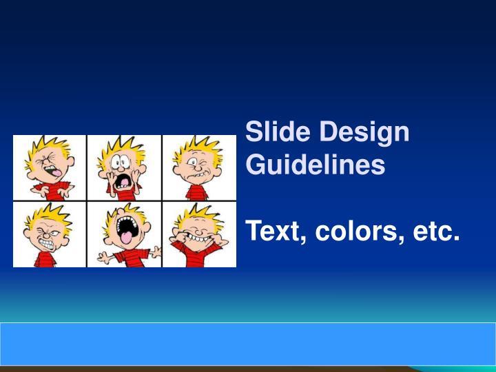 Slide Design Guidelines