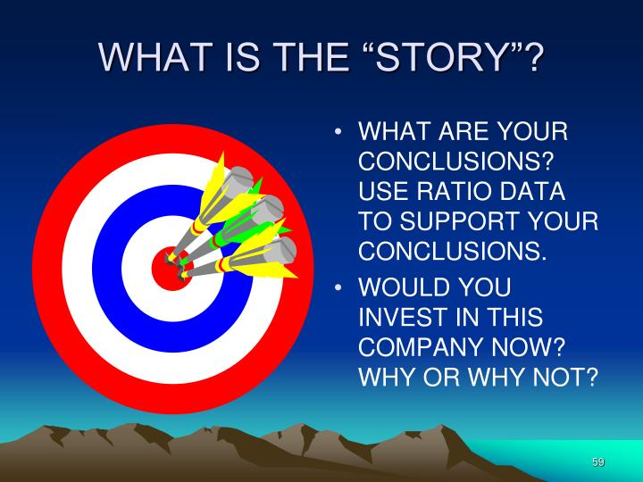 """WHAT IS THE """"STORY""""?"""