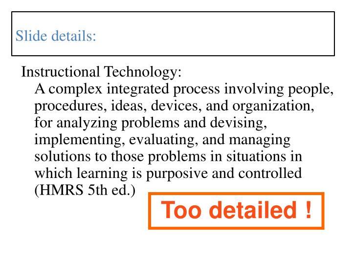 Instructional Technology: