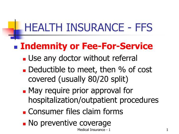 health insurance ffs n.
