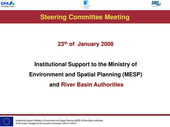 steering committee meeting n.