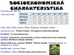 socioekonomick charakteristika