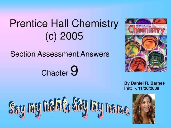 PPT Prentice Hall Chemistry C 2005 PowerPoint