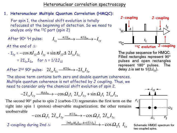 Heteronuclear correlation spectroscopy