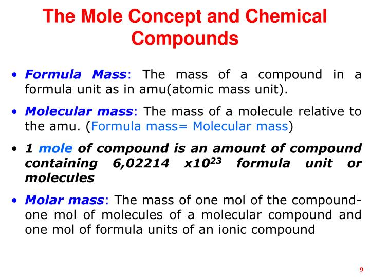 03 09 molar mass of compounds honors