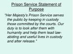 prison service statement of purpose