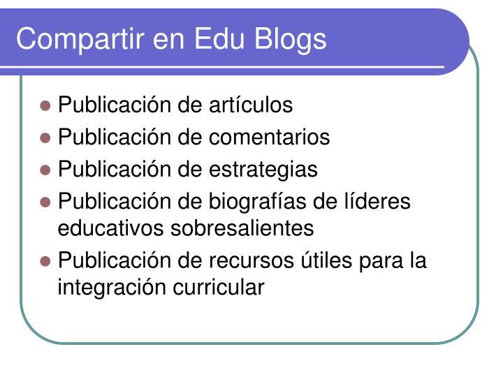 Compartir en Edu Blogs