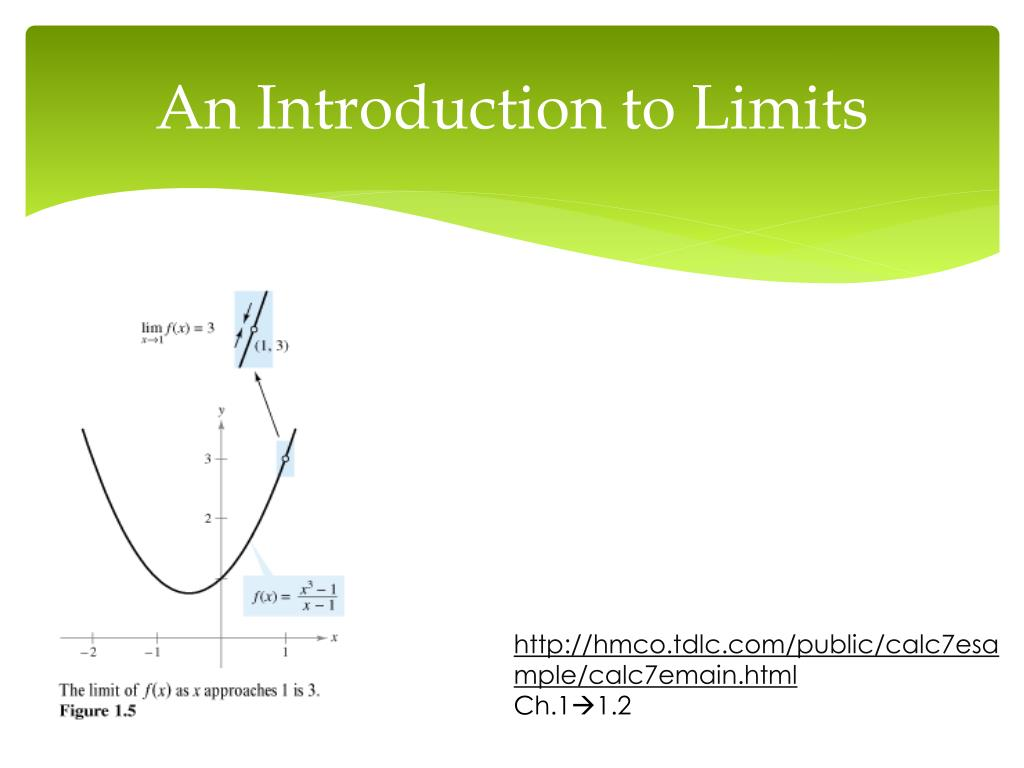 PPT - CHAPTER 1—Limits and Their Properties PowerPoint