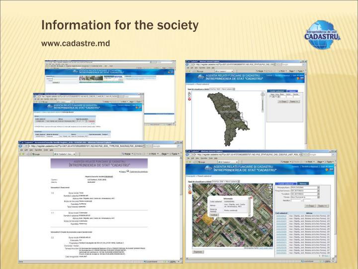 Information for the society
