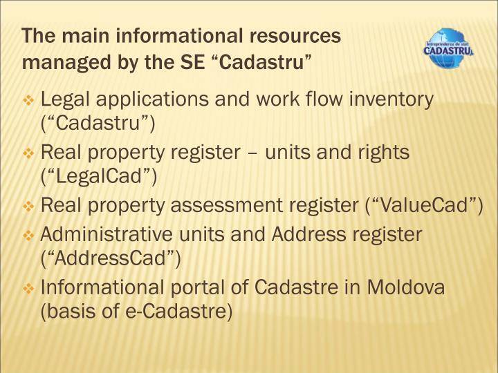 The main informational resources
