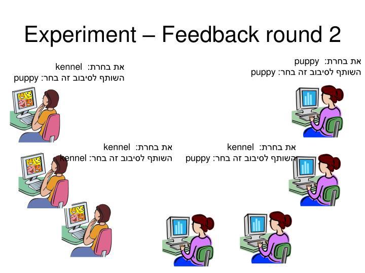 Experiment – Feedback round 2