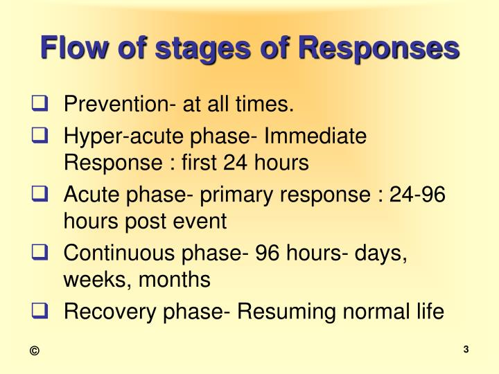 Flow of stages of responses