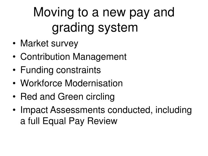 Moving to a new pay and grading system