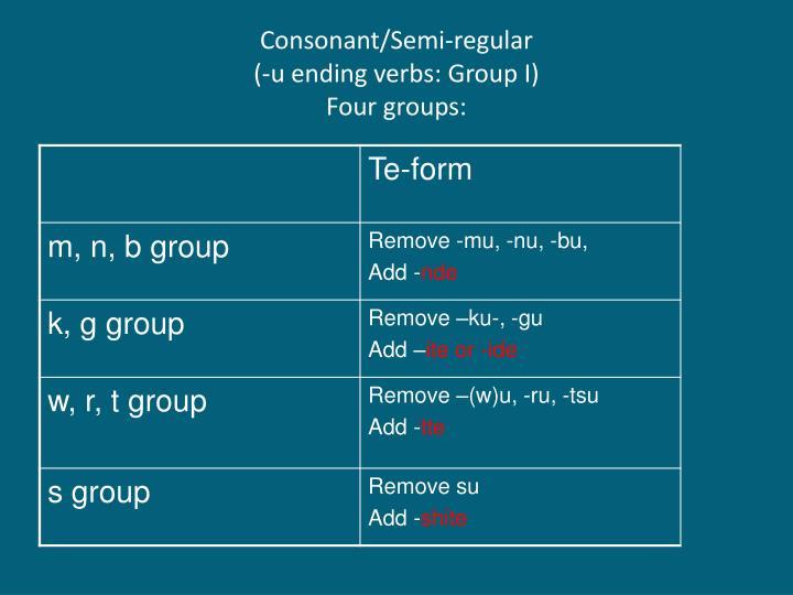 Consonant/Semi-regular