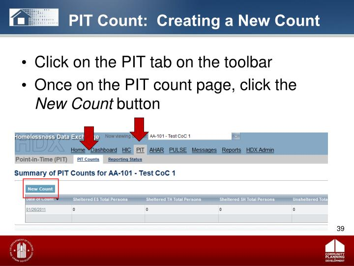 PIT Count:  Creating a New Count