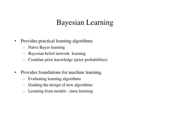 bayesian learning n.