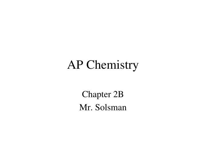 ap chemistry n.
