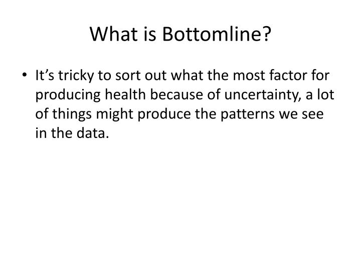 What is Bottomline?