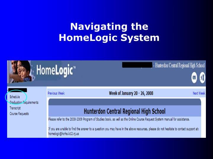 Navigating the HomeLogic System