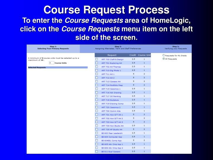 Course Request Process