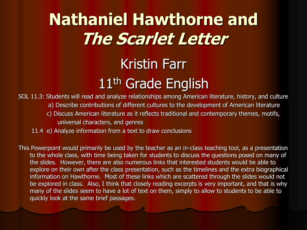nathaniel hawthorne characters