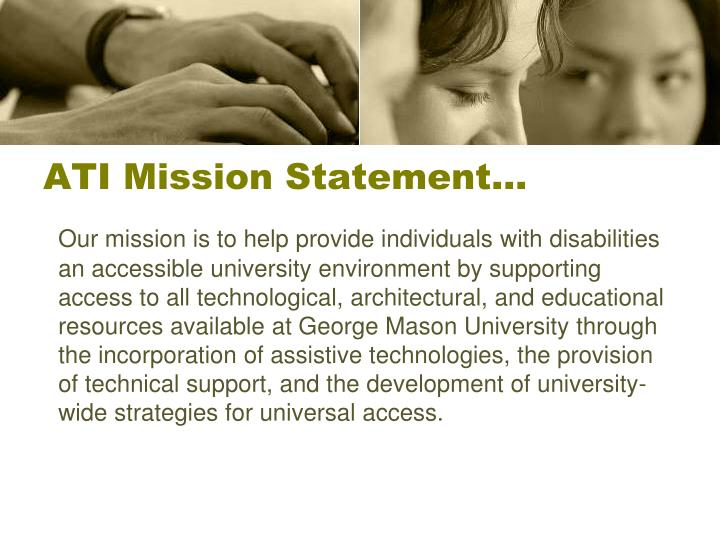 Ati mission statement