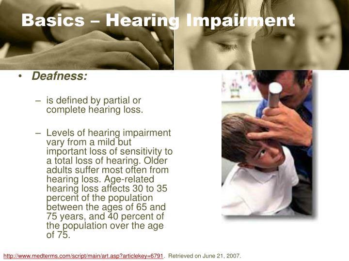 Basics – Hearing Impairment