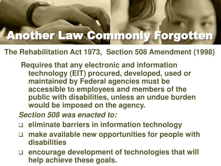 Another Law Commonly Forgotten
