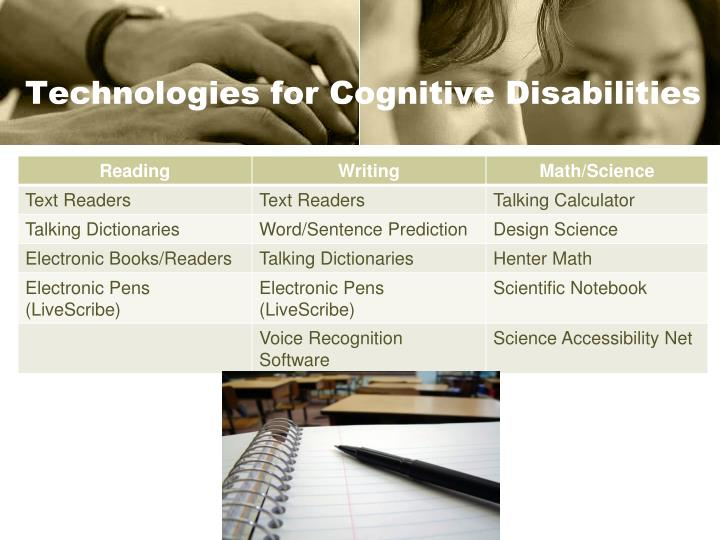 Technologies for Cognitive Disabilities