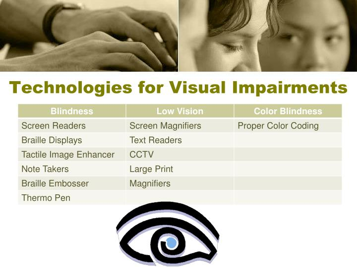 Technologies for Visual Impairments