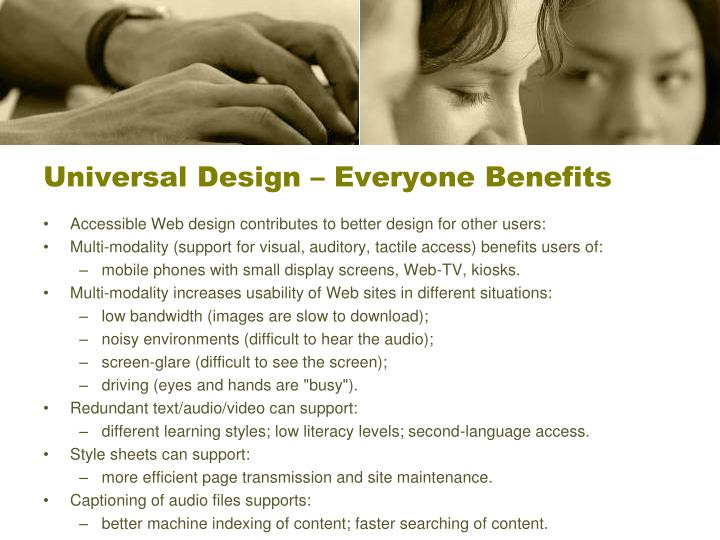 Universal Design – Everyone Benefits