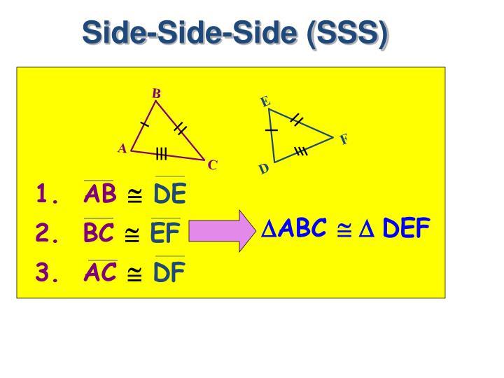 Side-Side-Side (SSS)