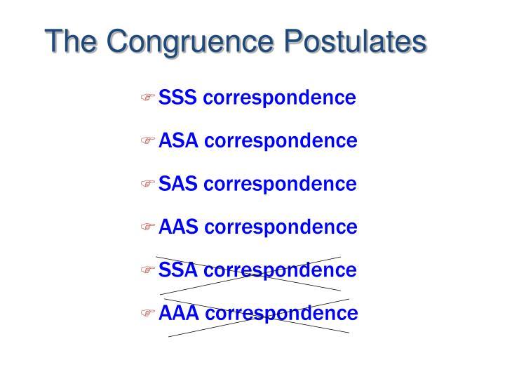 SSS correspondence