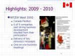 highlights 2009 20101